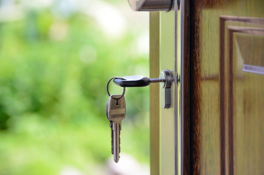 Sleutel in een deur